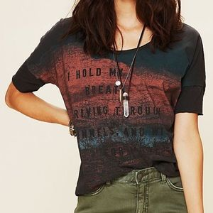 Free People Road Trip Graphic Tee Oversized